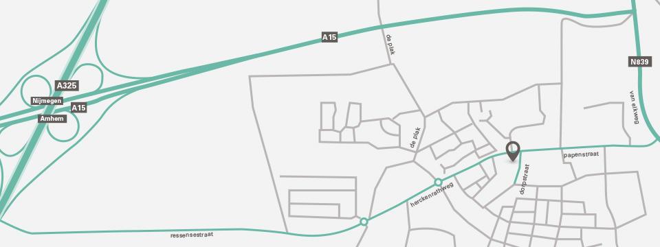 Locatie kantoor Bemmel kaart